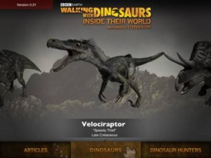 BBC Worldwide unveils Walking with Dinosaurs iPad app voiced