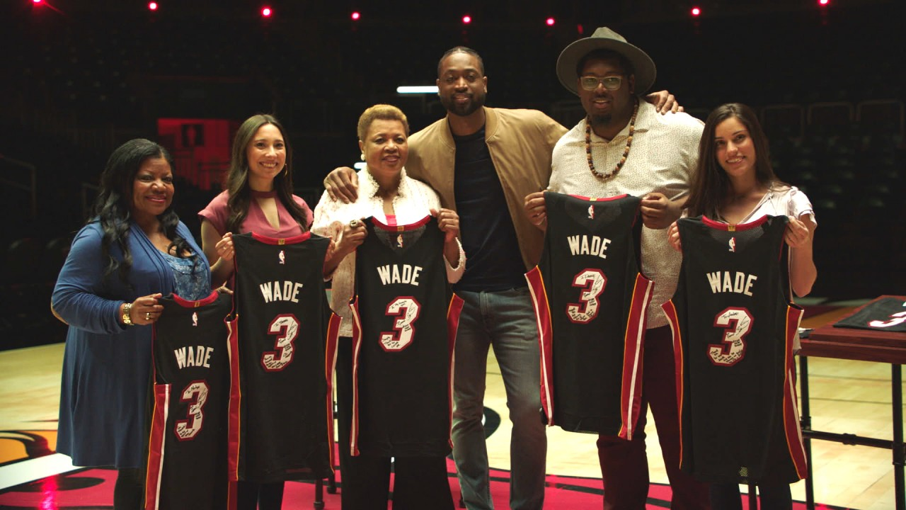 dd4319765bed Budweiser is honoring Dwyane Wade s career both on and off the court with a  touching film showing him exchanging jerseys with fans he s impacted.
