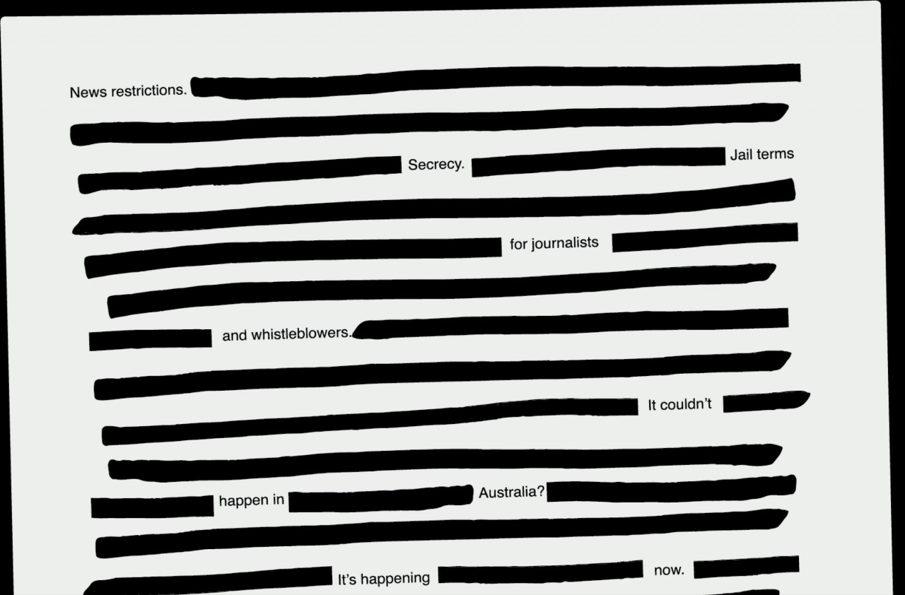 Australian newspapers redact front pages in unison against secrecy laws