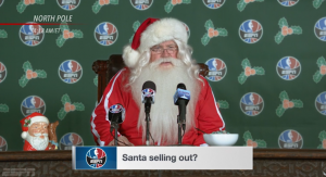Santa joins the NBA in ESPN ad | The Drum