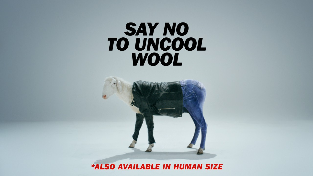 Ad of the Day: Diesel dresses a sheep in chic clothing for campaign against Uncool Wool