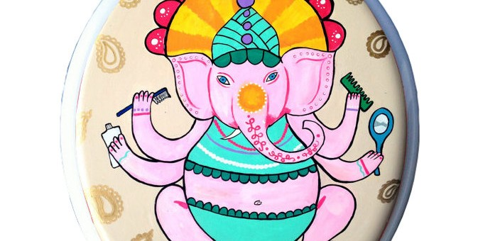 Superb Etsy Pulls Ganesha Toilet Seats Following Furious Response Bralicious Painted Fabric Chair Ideas Braliciousco