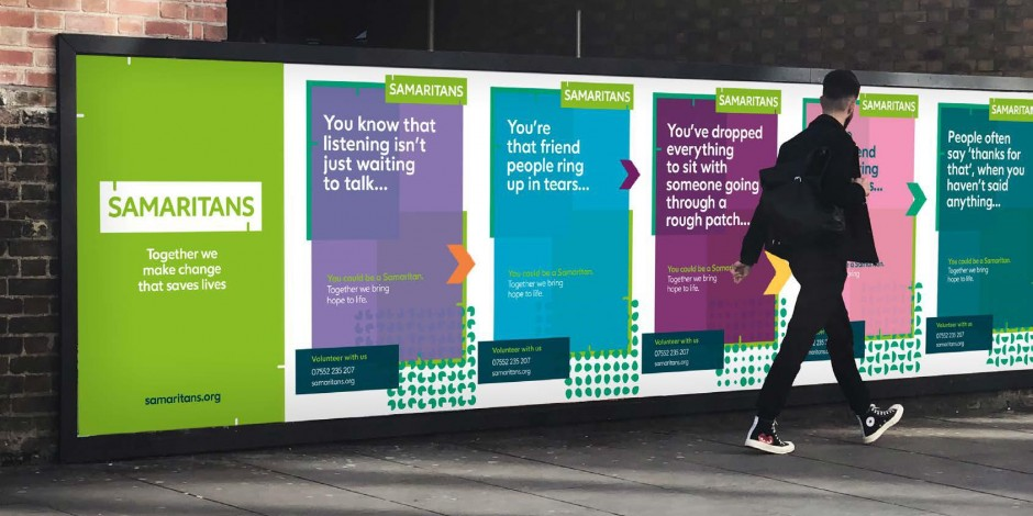 Samaritans rebrands: 'It's not just about modernisation – its about relevance'