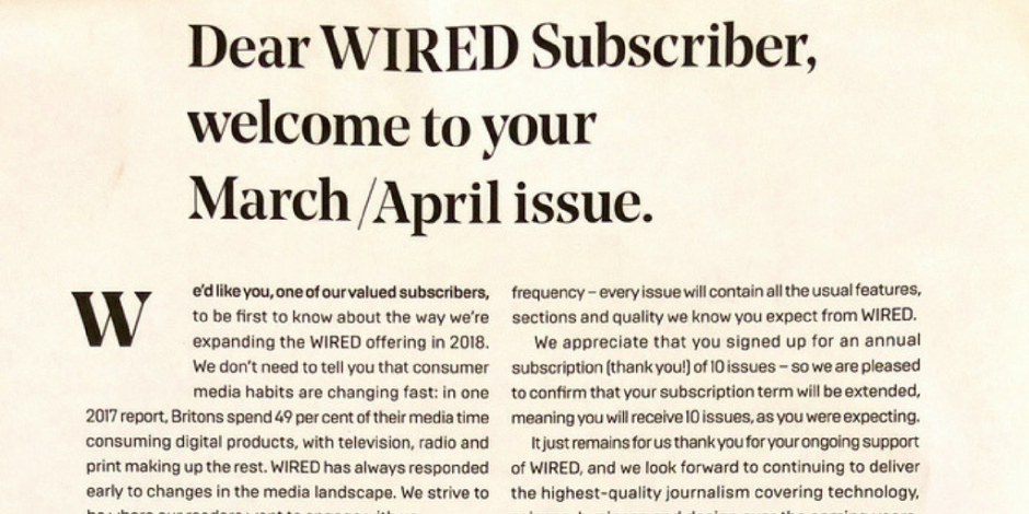 Wired halves print output amid growing digital demands | The Drum
