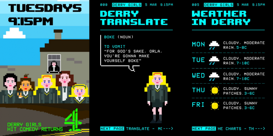 Derry Girls Toasts The 90s With Teletext Inspired Instagram