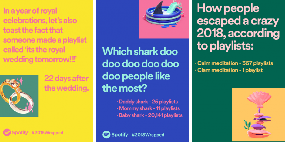 Spotify unwraps weird listening habits for global end of year ad