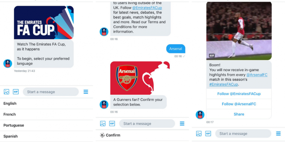 9787cf056eb Twitter to DM FA Cup highlight packages to international fans | The Drum
