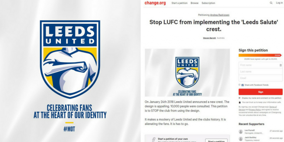9f143df51 The damned United logo  Leeds scolded by fans for crowdsourced crest  redesign