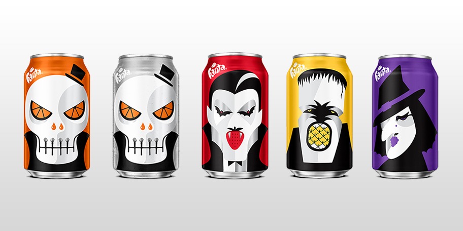 Fanta Halloween Cans 2020 Fanta gets ghoulish with Halloween themed packaging | The Drum