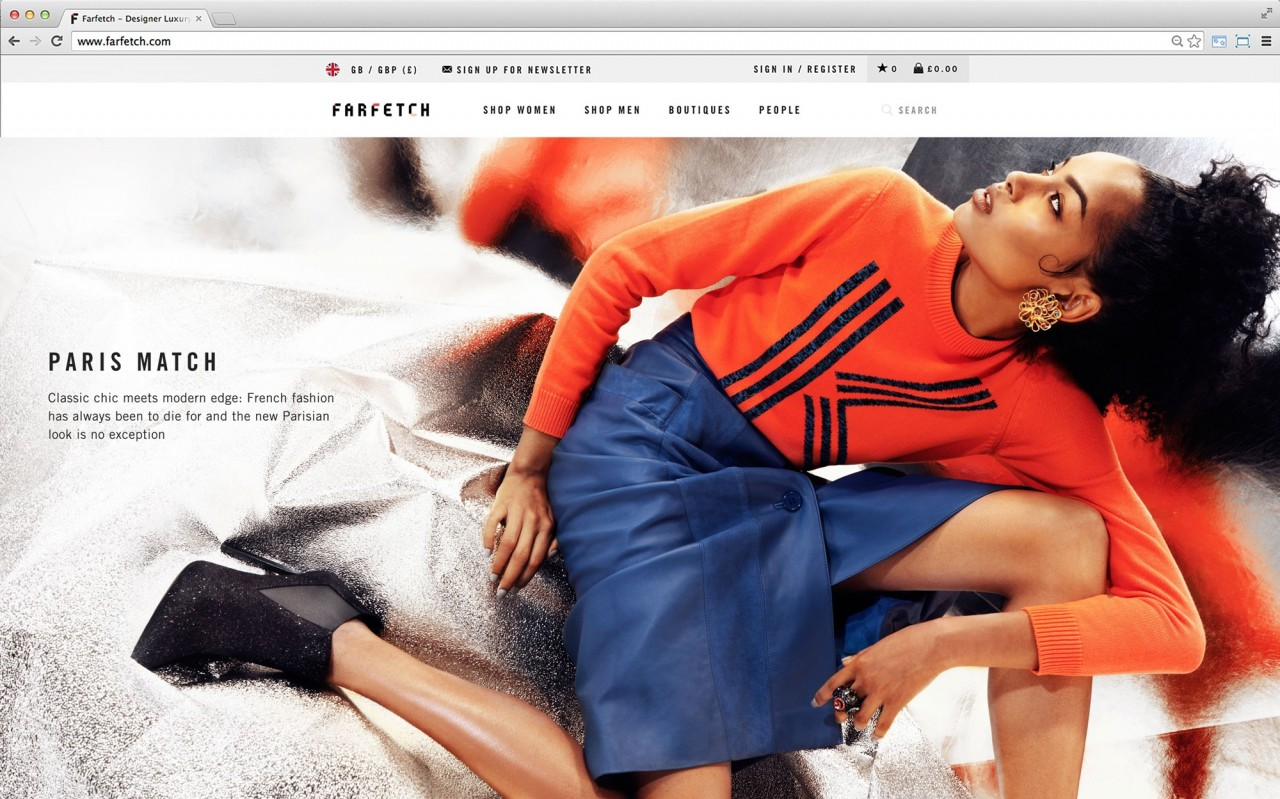 Relaunch to Style.com as an e-commerce site exclusive photo