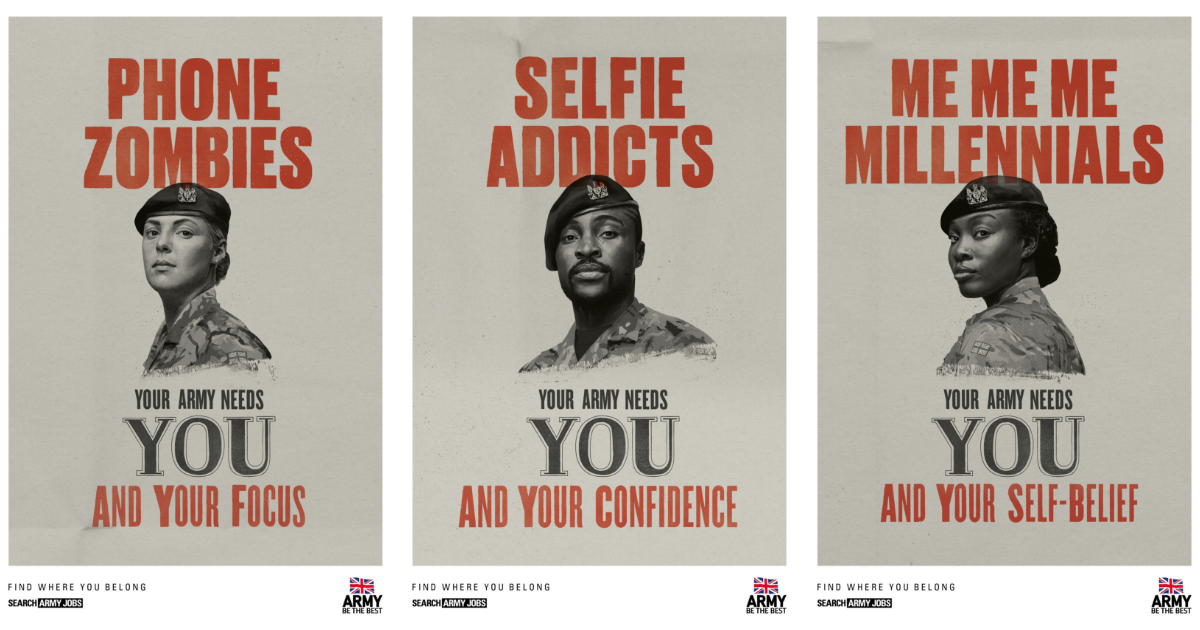 Best Ads 2019 British Army targets 'snowflakes' and 'me me me millennials' in